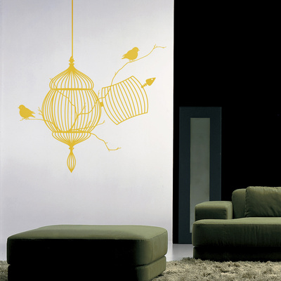 The Free Birds-Yellow Wall Decal