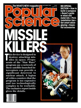 Front cover of Popular Science Magazine: September 1, 1988 Art Print