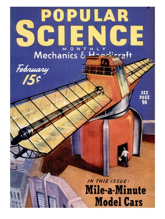 Front cover of Popular Science Magazine: February 1, 1940 Art Print
