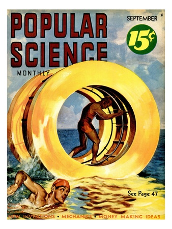 Front cover of Popular Science Magazine: September 1, 1930 Reproduction d'art