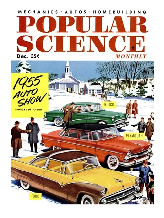 Front Cover of Popular Science Magazine: December 1, 1955 Posters