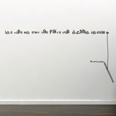 The Walls are Not Done-Medium-Black Wall Decal