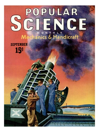 Front cover of Popular Science Magazine: September 1, 1940 Art Print