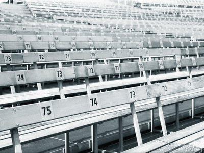 Empty stadium Photographic Print by Guntmar Fritz
