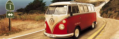 VW Camper-Route One Affiches format porte