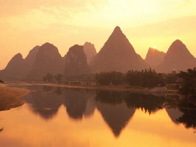 Li River Guilin, Yangshuo, Guangxi Province, China Fotoprint av Frank Lukasseck
