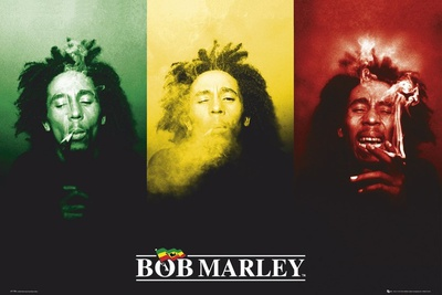 Bob Marley-Flag Giant Poster
