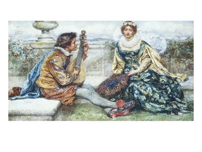If Music Be the Food of Love Premium Giclee Print by Walter Duncan