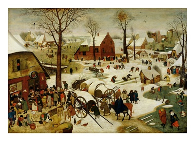 The Census at Bethlehem reproduction procédé giclée