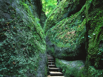 Stairs to the Mary's gorge Photographic Print by Roland Gerth
