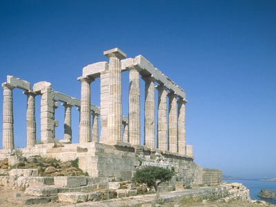 Poseidon Temple in the Sounion National Park, Greece, Attica Photographic Print by Rainer Hackenberg