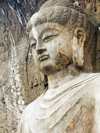 Colossal Buddha Sculpture at Fengxian Temple of Longmen Grottoes Fotoprint av Xiaoyang Liu