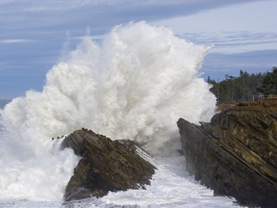 Waves Crashing on Rocks Photographic Print by Craig Tuttle