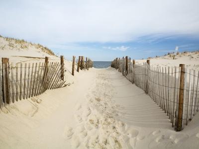 Einsamer Strand Fotografie-Druck von Stephen Mallon
