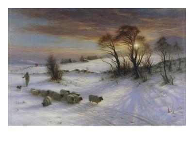 The Evening Glow Premium Giclee Print by Joseph Farquharson