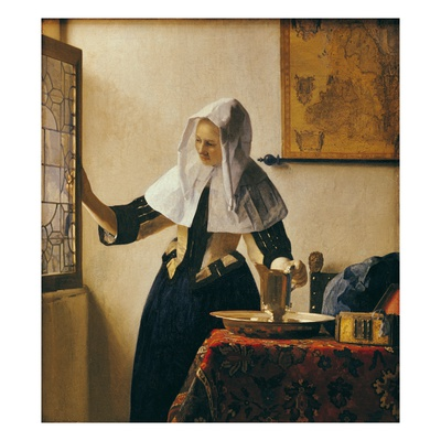 Young Woman with a Water Jug Giclée-tryk