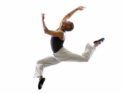 Ballet Dancer Mid-air in Jump Photographic Print by Tim Pannell