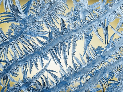 Frost on Glass Photographic Print by John Gillmoure