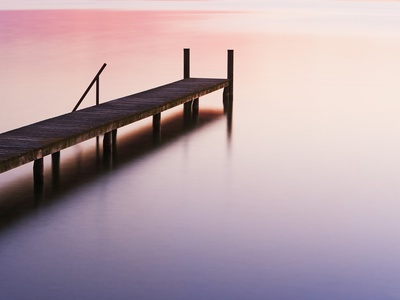 Footbridge at Lake Starnberg Photographic Print by Frank Krahmer