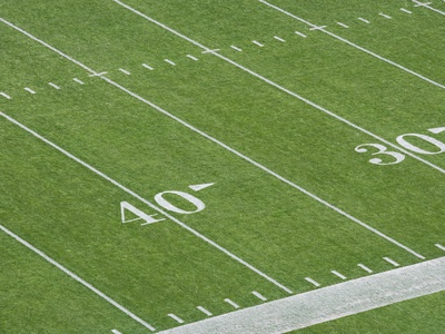 Yard Lines on Football Field Photographic Print by David Madison