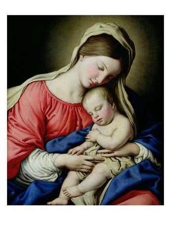 Virgen y el niño Lámina giclée