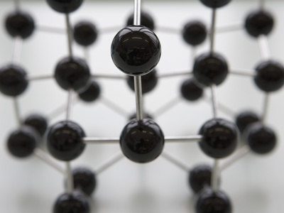 Model of Molecular Structure Photographic Print by Michael Haegele