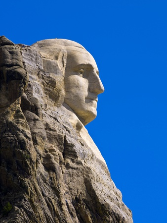 George Washington on Mount Rushmore Memorial Photographic Print by Gutzon Borglum