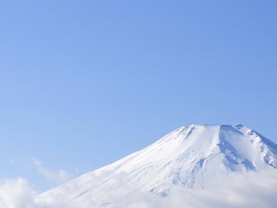 Mt. Fuji covered in snow. Yamanakako, Yamanashi Prefecture, Japan Photographic Print by Masahiro Trurugi