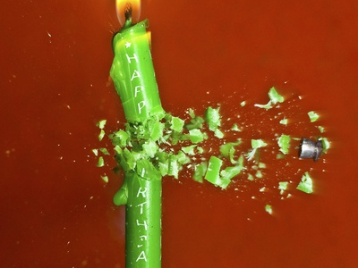 Candle Splat Photographic Print by Alan Sailer