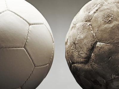 Soccer ball Photographic Print by Paul Taylor
