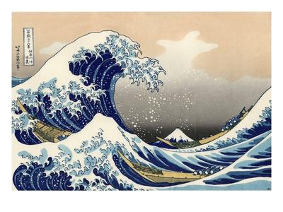 Under vågen utanför Kanagawa Gicléetryck av Katsushika Hokusai