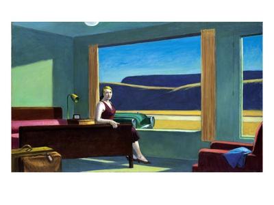 Western Motel Premium Giclee Print by Edward Hopper