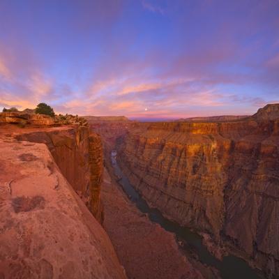 Full moon over Toroweap Point in Grand Canyon National Park Photographic Print by John Eastcott & Yva Momatiuk