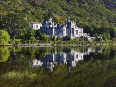 Kylemore Abbey reflected in lake Photographic Print by Doug Pearson