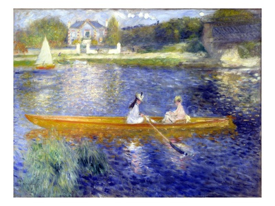 The Skiff (La Yole) Giclée-tryk af Pierre-Auguste Renoir