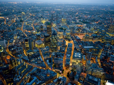Aerial View of City of London Lámina fotográfica