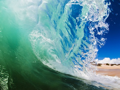 Shorebreak wave Photographic Print