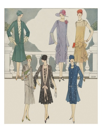 Women's fashion from 1920s Giclee Print