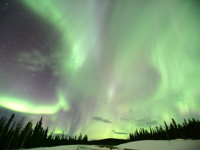 Aurora Borealis or Northern Lights, Yukon. Photographic Print by Robert Postma
