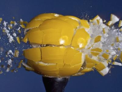 Yellow Jawbreaker Broken Photographic Print by Alan Sailer