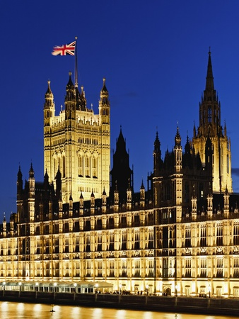Victoria Tower and Houses of Parliament Fotoprint av Rudy Sulgan