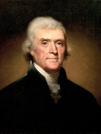 Thomas Jefferson Premium Giclee Print by Rembrandt Peale