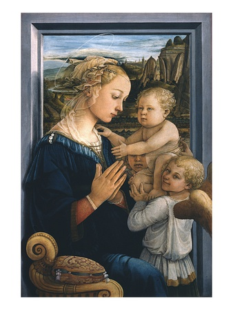 Madonna and Child with Angels Premium Giclee Print by Filippo Lippi