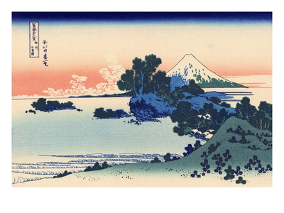 Shichiri Beach in Sagami reproduction procédé giclée