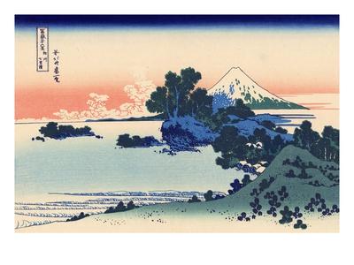 Shichiri Beach in Sagami Gicléetryck av Katsushika Hokusai