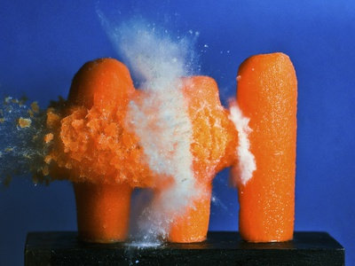 Carrot Catastrophe Photographic Print by Alan Sailer