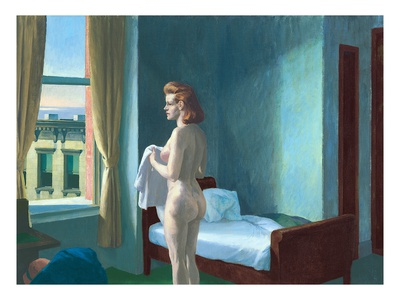 Morning in a City Premium Giclee Print by Edward Hopper