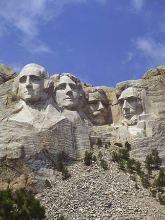USA, South Dakota , Mount Rushmore Stone Carvings of US Presidents, George Washington, Thomas Jeffe Photographic Print by Chris Cheadle