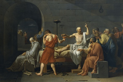 The Death of Socrates Premium Giclee Print by Jacques-Louis David