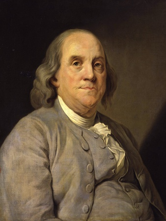 Benjamin Franklin Photographic Print by Joseph Siffred Duplessis